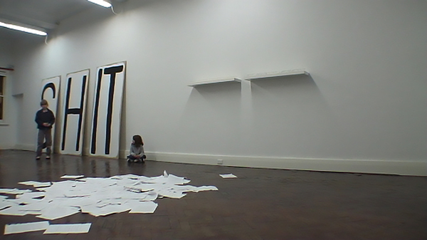 TONY SCHWENSEN Difficult Pleasures 2008 Uplands Gallery, Melbourne, Australia Performance