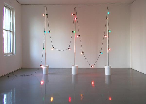 TONY SCHWENSEN Errors of Judgement 2003 Sarah Cottier Gallery, Sydney, Australia Concrete, PVC, Electric LIghts