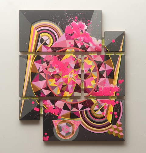 Tricky Walsh Dirty Geometry (paintings) Acrylic on multi panel, birch