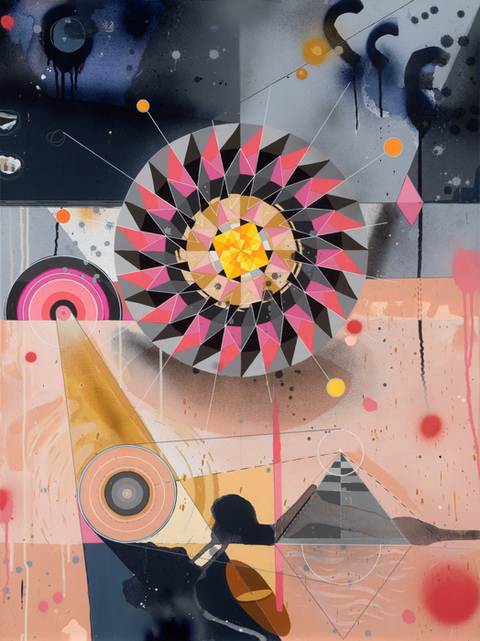 Tricky Walsh Dirty Geometry (paintings) Acrylic on canvas