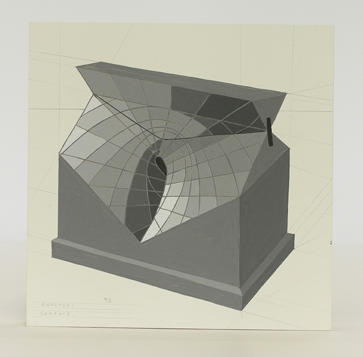 geometric portraits Enneper's surface