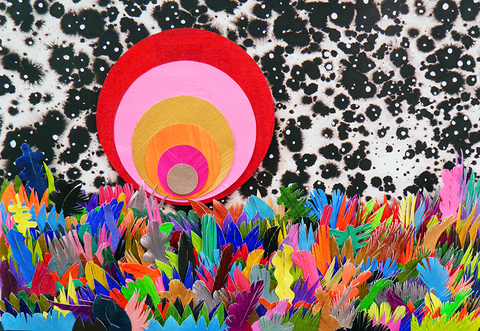 MICHAEL VELLIQUETTE Paper Works Paper, acrylic, ink