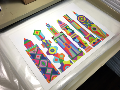 MICHAEL VELLIQUETTE Sparkle Vision City, PS320, Queens Archival pigment prints with serigraphy
