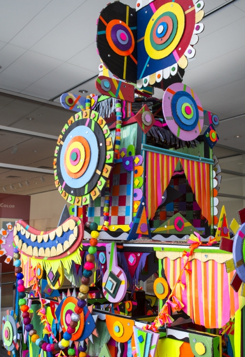 MICHAEL VELLIQUETTE Sculpture Wood, paint, cardboard, paper, plastic, fabric, mirrors