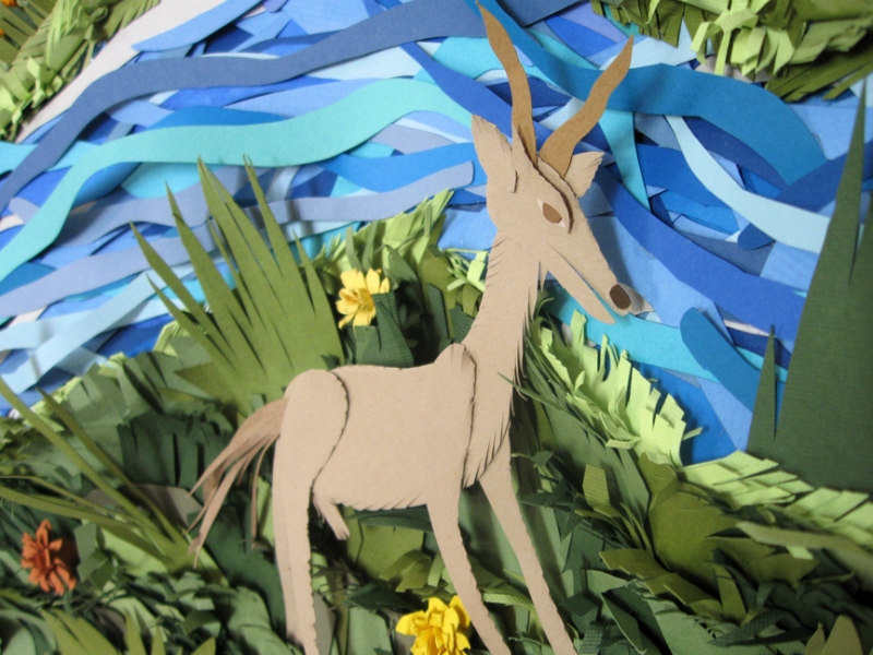 Early Cut Paper Works (2005-2009)  Grazing Gound (detail)