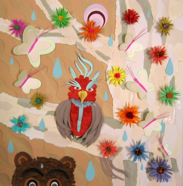 Early Cut Paper Works (2005-2009)  Bird and Bear