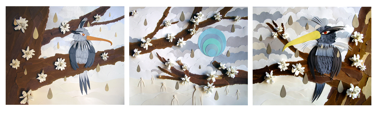 Early Cut Paper Works (2005-2009)  Winter Story