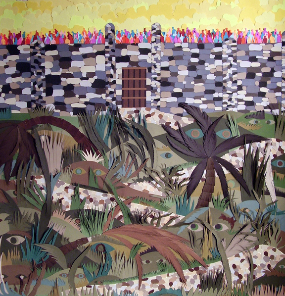 Early Cut Paper Works (2005-2009)  While They Waited a Wildness Grew