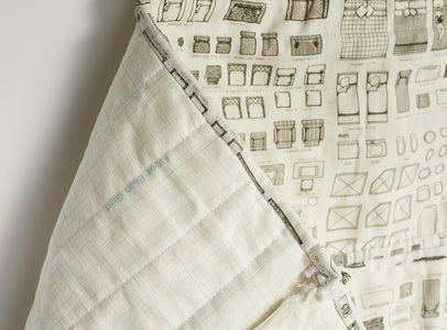 Venetia Dale house plans printed and quilted belgian linen