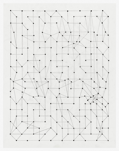 VICTORIA BURGE Graphs and Grids ink and pencil on mylar