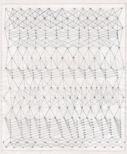 VICTORIA BURGE Notations  pencil and gesso