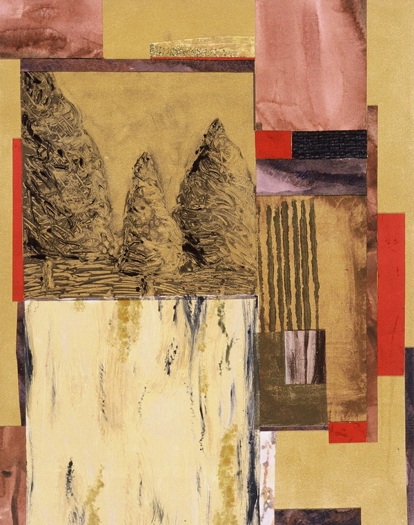 Mitchell Visoky Archived Mixed Media Monotype, collage