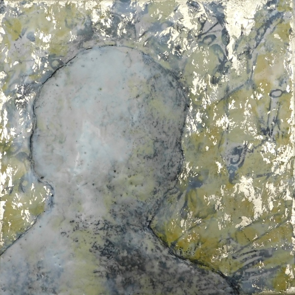 Mitchell Visoky Paintings Encaustic, gold leaf, oil stick, toner