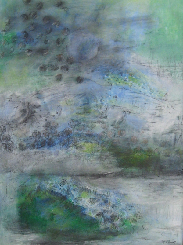 Mitchell Visoky Archived Mixed Media Monotype, pastel, charcoal