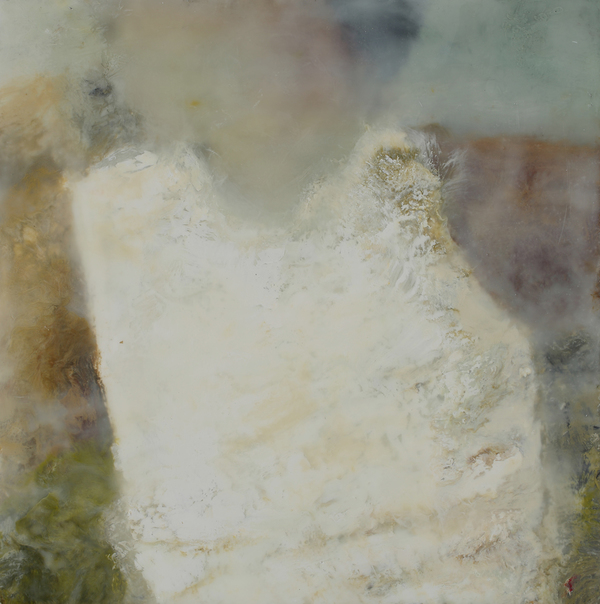 Mitchell Visoky Paintings Encaustic wax, photograph on silk