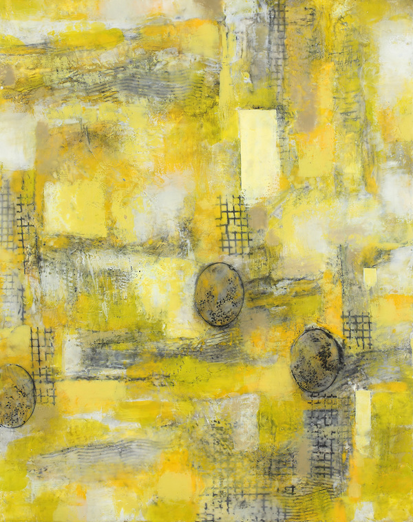 Mitchell Visoky Paintings Encaustic wax, oil stick, toner transfer on board