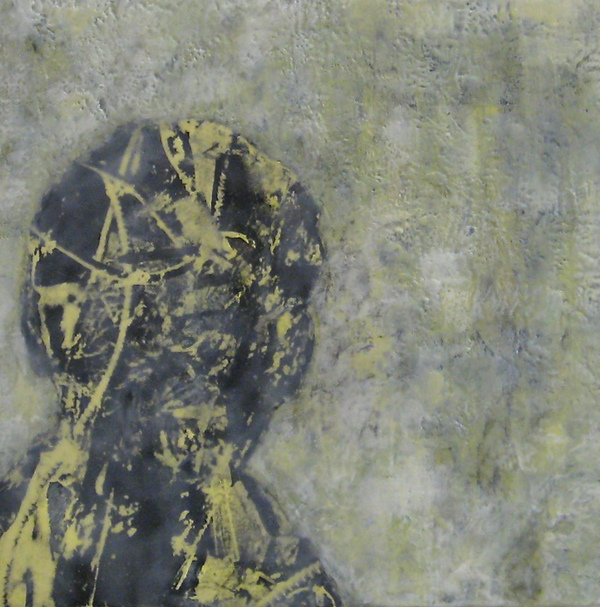 Mitchell Visoky Paintings Encaustic wax, toner transfer on board