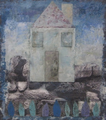 Mitchell Visoky Archived Mixed Media Monotype collage, encaustic wax
