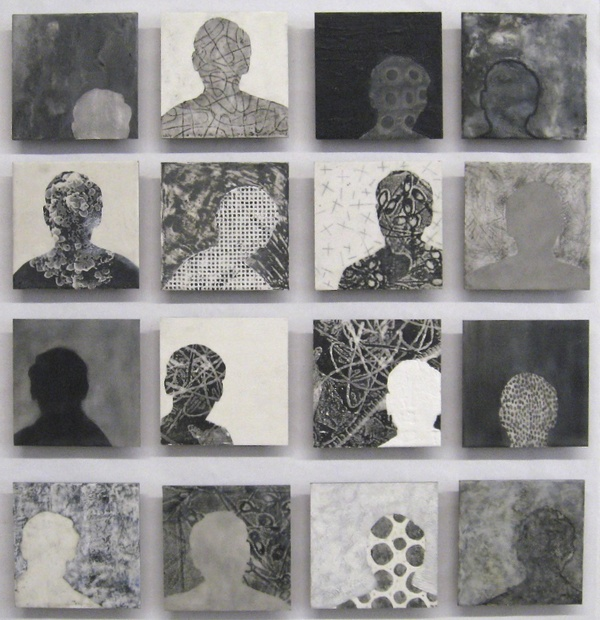 Mitchell Visoky Paintings Encaustic wax with various mixed media (charcoal, toner transfer, oil stick)