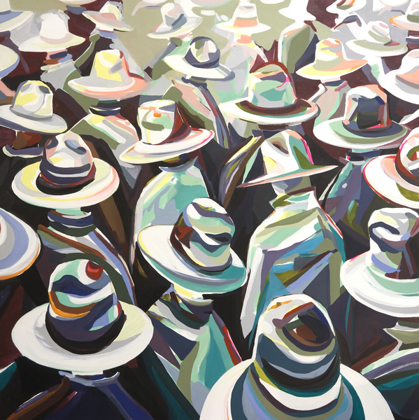Patrick Walker Duffy  Wading Hats Series Oil on Canvas