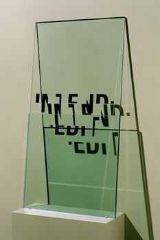 Walter Kopec Word Based Art vinyl on glass