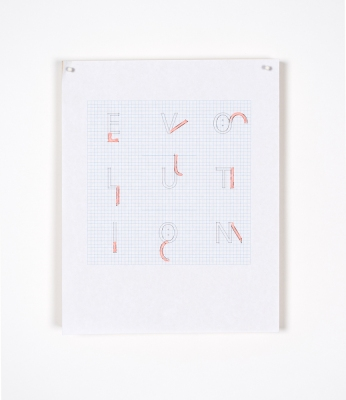Walter Kopec Word Based Art acrylic on laser print