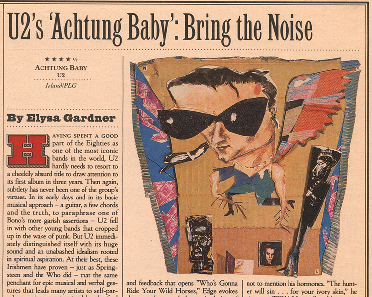Illustration Archives Rolling Stone Record Review, U2