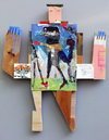 Observed/Invented Wood & Acrylic Assemblage