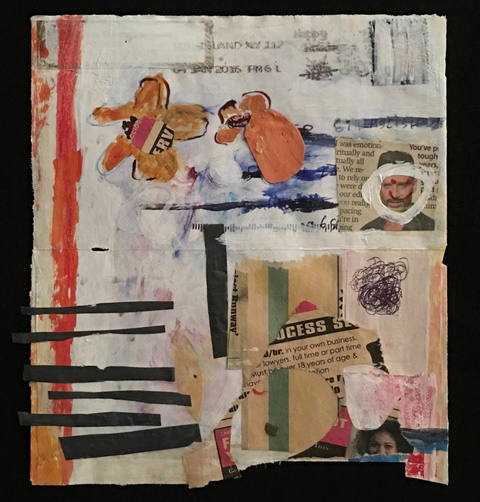 Wendy Young Paper & Envelopes mixed media on paper envelope
