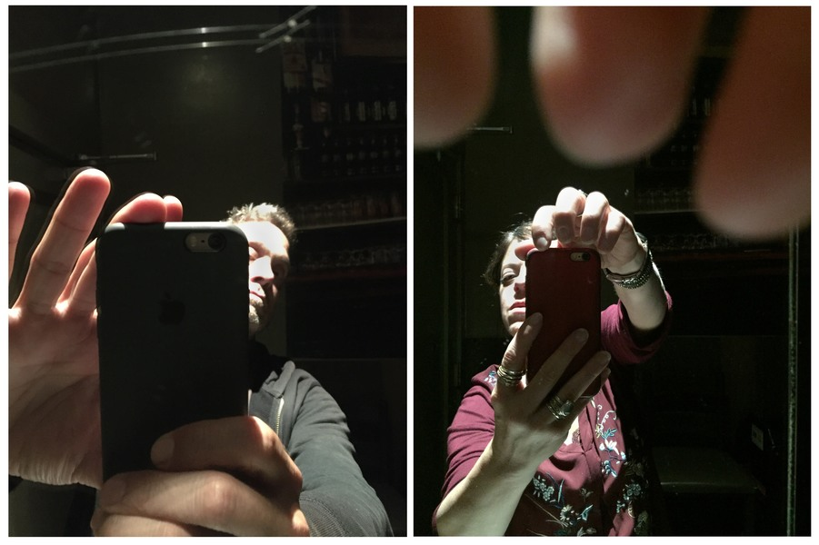 Double Self Portraits  Through The Looking Glass