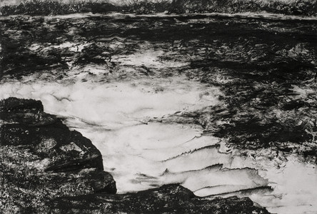 Willa Cox Clouds, Trees, and Rocks ink monotype on paper