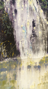 Willa Cox Waterfalls ink monotype on paper