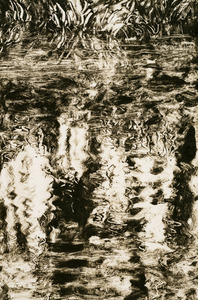 Willa Cox Water  monotype on paper