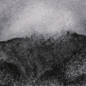 Willa Cox Clouds, Trees, and Rocks ink monotype with charcoal on paper