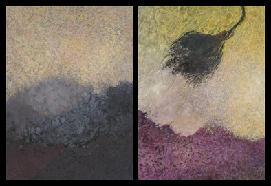 Nature-based Abstraction Diptychs Nature-based Abstraction Diptych, No. 4