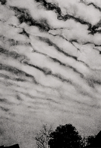 Willa Cox Clouds, Trees, and Rocks ink on paper