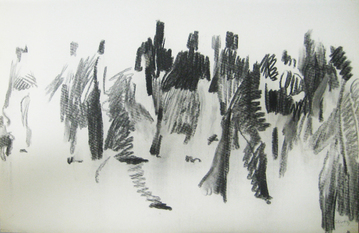 William Clutz Paintings charcoal, 23 x 29.5 inches