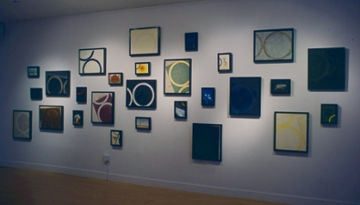 "WILLIAM C. MAXWELL  ""The Perfect Circle"" Perfect Circle:  Interrogation Series, 2003 Oil Bar on Conventry Paper mounted on board, handmade floating frames"
