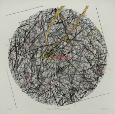 "WILLIAM C. MAXWELL  ""The Perfect Circle"" Perfect Circle:  Timeless Encounters Series, 2009-2014 Monoprint with Hand Coloring"