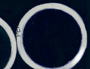 "WILLIAM C. MAXWELL  ""The Perfect Circle"" Perfect Circle:  Interrogation Series, 2003 Oil Bar on Coventry Paper"