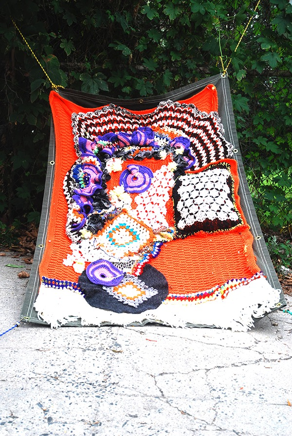 WOOLPUNK Gimme Shelter  Recycled Fibers & Tarp