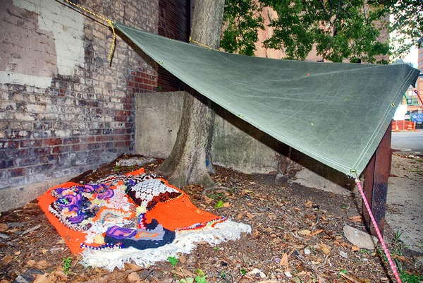 WOOLPUNK Gimme Shelter  Recycled Fiber & Tarp