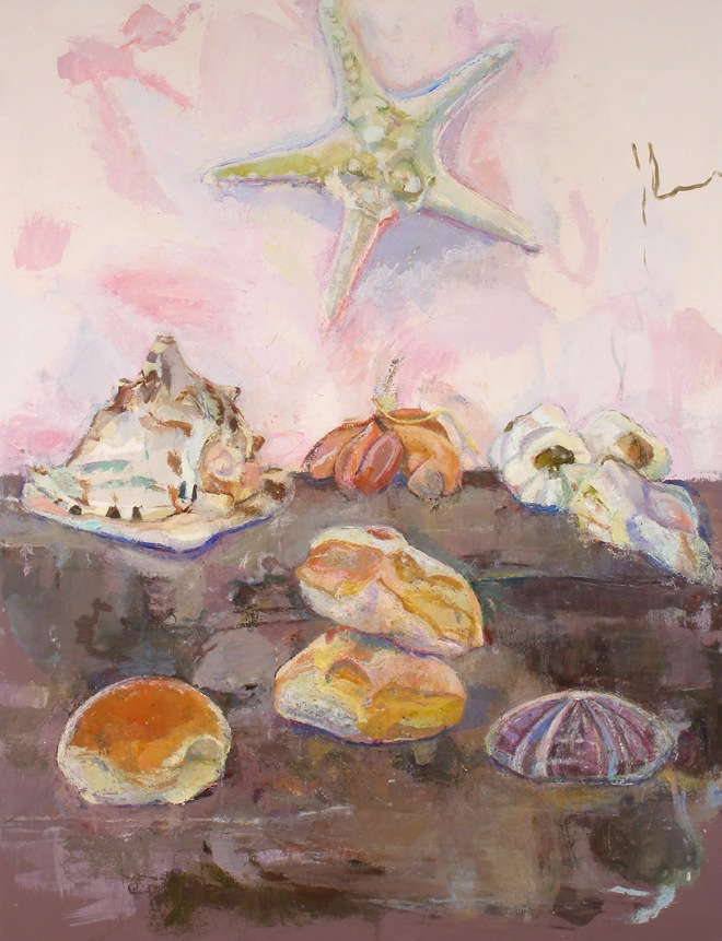Paintings Still Life with Seashells