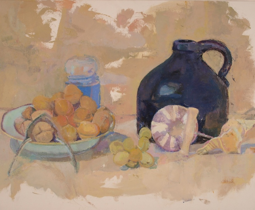Paintings Black Jug, Walnuts, Shells