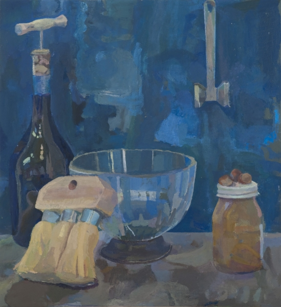 Paintings Wine with Corkscrew, Bowl