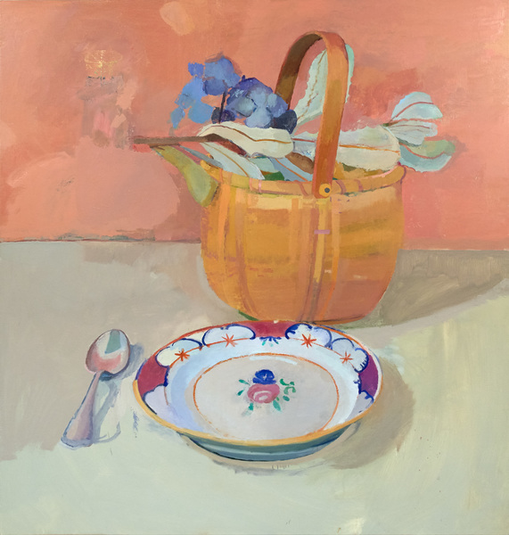 Paintings Basket with Flowers