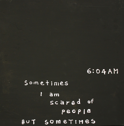 Sometimes I am scared of people but somtimes