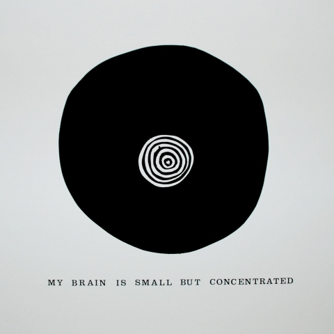 My brain is small but concentrated