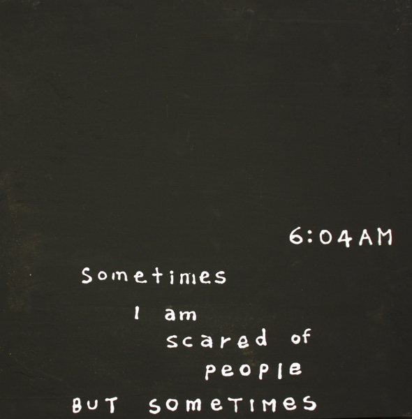 Sometimes I am scared of people but somtimes<br/>