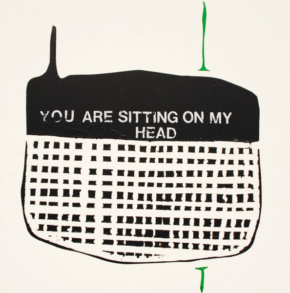 You are sitting on my head<br/>
